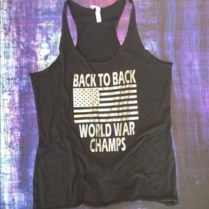 🇺🇸Back to Back World War Champs tank top 🇺🇸